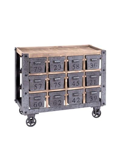 Wood Cart, Brown