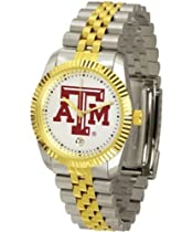 Texas A&M Aggies TAMU NCAA Mens Steel Executive Watch