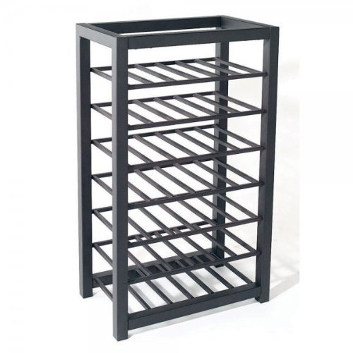 Tag trio short steel 42 bottle wine rack floor wine racks for Floor wine rack