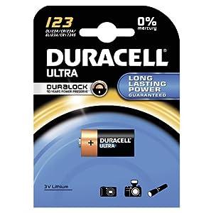 Duracell - Batterie Lithium spéciale appareils photo - 123 B1 Ultra x1 (equivalent CR17345, EL123AP, CR123A, K123LA)