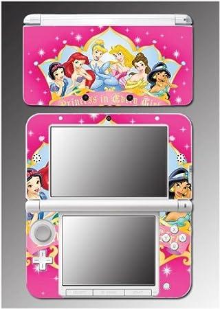 Princess Belle Jasmine Ariel Queen Cinderella Video Game Vinyl Decal Cover Skin Protector #14 Nintendo 3DS XL