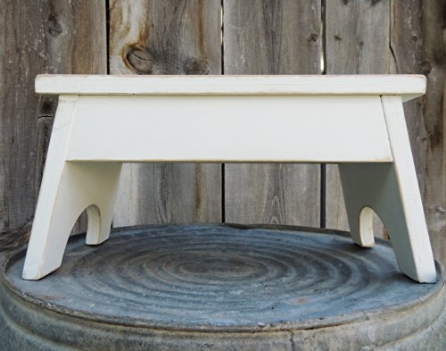 WintersCottage Hand Crafted Vintage-Style Wooden Step Stool