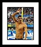 Michael Phelps 2008 USA Olympic Swimming - Arm Raised - Framed 8x10 Photograph