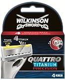 Wilkinson Sword Quattro Titanium Precision Razor Blades -Pack of 4