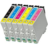 6 Pack Ink Cartridges for Artisan 600,Artisan 700, Artisan 710, Artisan 800 , Artisan 810 (Compatible T098 - T0981 Bk, C, M, Y, Lc, Lm)