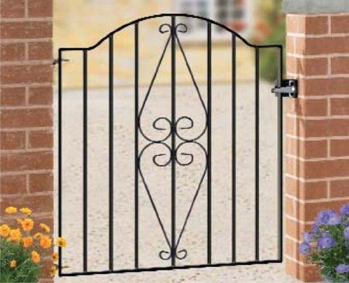 Metal garden gate Henley 920-990MM OPENING X 942MM HIGH