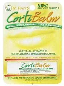Dr. Dans CortiBalm Lip Balm for Chapped Lips - 0.14 Oz (3 pack).
