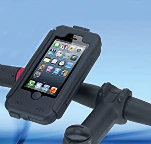 ikross Heavy Duty Weather / Shock Proof Bike Mount Holder Hard Case for Apple iPhone 5 5th Generation Verizon / AT&T / Sprint Version