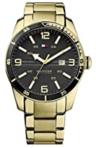 Tommy Hilfiger Noah Black Dial Gold-tone Stainless Steel Mens Watch 1790917