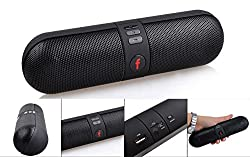 MVE(TM) Portable HiFi wireless Bluetooth Pill Speaker TF Card MP3 Player Mobile Phone Handfree Mic Stereo Audio mini Speaker Supported Devices - Pairs easy & Fits All Android Cell Phones, iPhone 6, 6 Plus, 5, 5c, 5s, 4, iPad (BLACK)