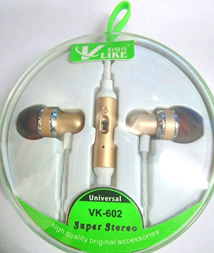 Ultra Bass In-Ear Beat Headphone with MIC, Ease Access Volume Cursors - DTS Like Experience, Perfectly fits-in to Ear. Rugged Plastic Coated Wire Compatibility with for Samsung Galaxy On8, Coolpad Note 5, Asus Zenfone 3 Max, Xiaomi Mi Max Prime, Moto E3 Power, Lenovo Phab 2 Plus, Apple iPhone 7, Oppo F1s, Vivo V5, Acer Aspire, Dell Inspiron, Apple MacBook Air, Lenovo IdeaPad YOGA, ASUS Zenbook, HP ENVY Touchsmart, Toshiba Portege-VLIKE-HS-055-GOLD  available at amazon for Rs.289