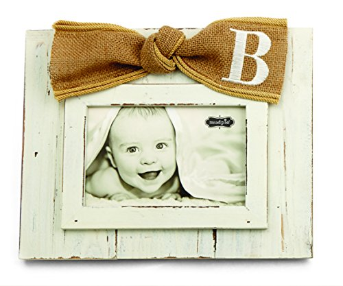 Mud Pie Planked Monogram Bow Frame, B