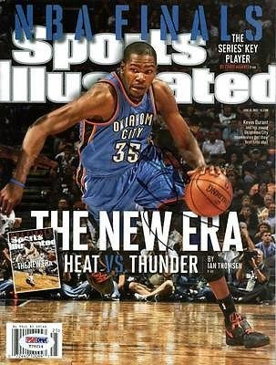 c622f214ea2 Thunder Kevin Durant Signed Sports Illustrated  t76214 - PSA DNA Certified  - Autographed NBA