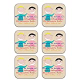 MeSleep Father Wooden Coaster-Set Of 6