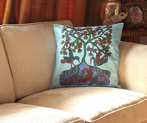 """Year End Deals SouvNear Cushion Cover """"Tree of Life"""