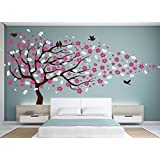Vinyl Wall Decal Cherry Blossom Flower Tree Wall Decal Decals Child Wall Sticker Stickers Flowers Baby Girl Room Decor Children Kids Dk20 by happyshopgoods (Color: #2)