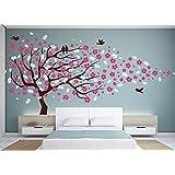Vinyl Wall Decal Cherry Blossom Flower Tree Wall Decal Decals Child Wall Sticker Stickers Flowers Baby Girl Room Decor Children Kids Dk20 by happyshopgoods (Color: #2)