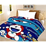 Lali Prints Kids Quilt Doraemon Blue A.C Blanket Single Bed Size Dohar