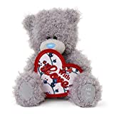 Me to You 5-inch Tatty Teddy Bear Holding a Heart Shaped with Love Banner (Grey)