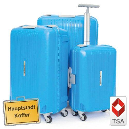 Hauptstadtkoffer 3er Set (43L,87L,130L) Hartschalenkofferset,Kofferset,Trolleyset,Reisekofferset,Farbe