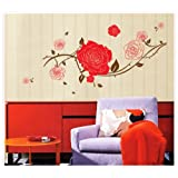 Oren Empower Stylish Removable Home Decor Flower Large Wall Stickers