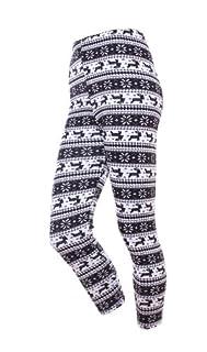 Snowflakes Pattern Warm Tights Women girls Leggings