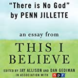 There Is No God: A This I Believe Essay