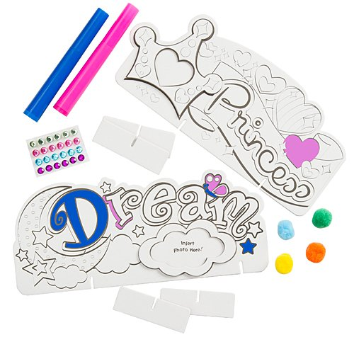 Princess Color Me Word Frames - 1