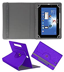 Acm Designer Rotating Case For Celkon Ct2 Talk 7 Stand Cover Purple