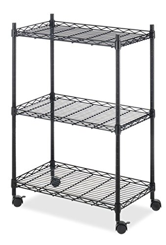 Whitmor Supreme Storage Cart - Black Finish