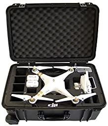 Microraptor Pro Cases NEW Phantom 3 Case designed to fit the Advanced & Professional Editions DJI PHANTOM 3 (Black Case, Black Foam)