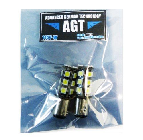 Agt 1157 2057 Pair Led Smd 18 Led Bulbs Brake Stop White