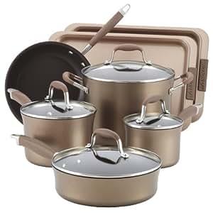 Anolon Advanced Bronze Nonstick 9-Piece Cookware Set