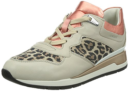 Geox D Shahira A Scarpe Low-Top, Donna, Beige (Lt Taupe/Coral), 40