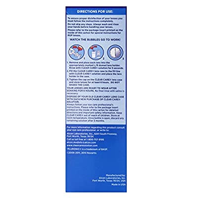 (2 Pack) CIBA Vision Clear Care Cleaning & Disinfecting Solution, 12 fl oz ea.
