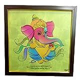 Colorful Art Ganesha Canvas Frame By Returnfavors