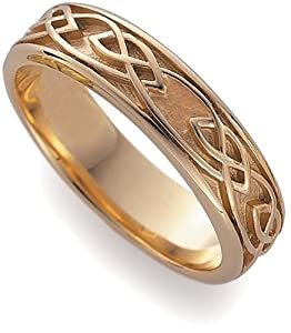 Plain Eternal Love Ring, 9ct Rose Gold, Ring Size J, Model ELR001, by Clogau Gold