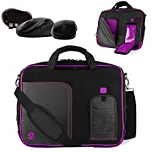 buy Uniquely Designed Vangoddy Purple Ultra Durable Reinforced 17 Inch Pindar Sports Bag For All Models Of The Hp Pavillion G7 Ultrabook!!! + Device Compatible Wireless Mouse.