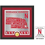 "NCAA Nebraska Cornhuskers ""State"" Bronze Coin Photo Mint, 18 "" X 14"" X 3"", Bronze"