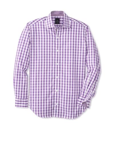 TailorByrd Men's Zoomy Long Sleeve Gingham Classic Sportshirt
