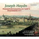 Harpsichord Concertos in F and G; Divertimento in F