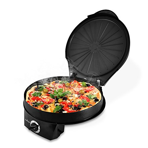 NutriChef PKPZM12 Pizza Maker Pizza Oven - Black (Small Oven Stone compare prices)