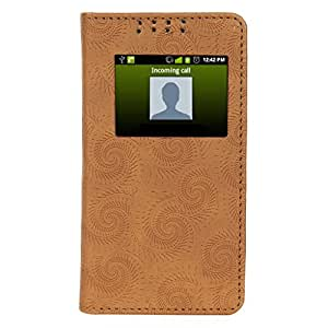 D.rD Flip Cover with screen Display Cut Outs designed for Micromax YU Yuphoria YU5010