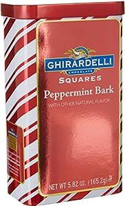 Ghirardelli Chocolate Rectangular Tin, Peppermint Bark, 5.82 Ounce