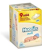 Huggies Lingettes Pures Format promo 9 paquetsX 64 Lingettes