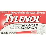 Tylenol Regular Strength Tablets, 100 Count