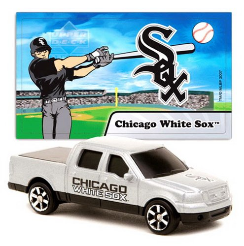 Chicago White Sox Mlb Upperdeck 1/87 Scale Ford F-150 Diecast Truck With Team Player Sticker