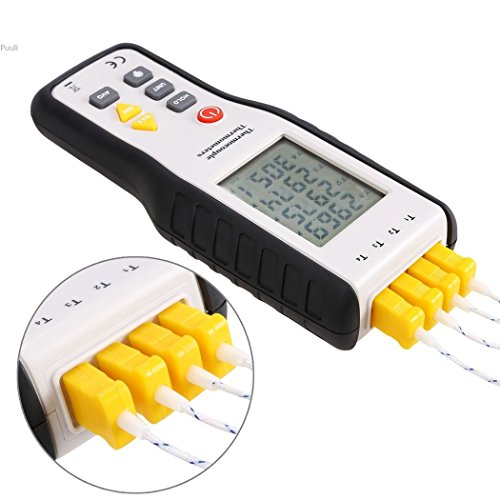 upHere 4-Channel K-Type Digital Thermometer Thermocouple Sensor -200~1372°C/2501°F (Digital Thermometer K Type compare prices)