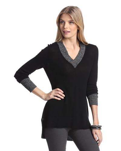 Cullen Women's Marl Cashmere Sweater  [Black]