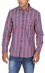 US Polo Assn. Men's Regular Fit Cotton Shirt (USSH3444_Multi-Coloured_S)